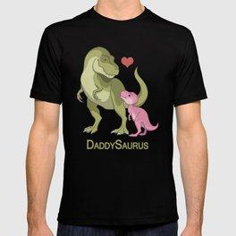 DaddySaurus T-Rex Father & Baby Girl Dinosaurs T-shirt