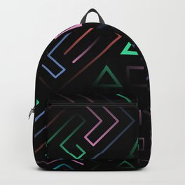 Playstation Buttons Maze Lines Backpack