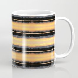 166 - Sunset Stripes design Coffee Mug
