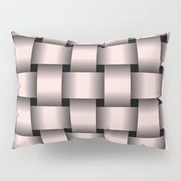 Large Pastel Pink Weave Pillow Sham