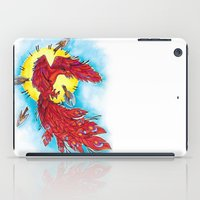 phoenix iPad Cases featuring Phoenix by missfortunetattoo