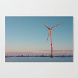 Wind Turbine at dawn Canvas Print