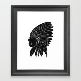 Indian Chief / Black Edition Framed Art Print