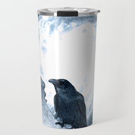 The crow and its Moon. (bcn art version) Travel Mug
