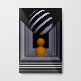 3D-geometry -14- Metal Print