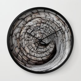 Spiralled Wood - Abstract Photography by Fluid Nature Wall Clock