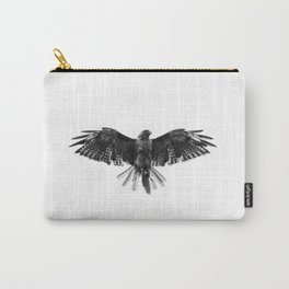 Black Bird White Sky Carry-All Pouch