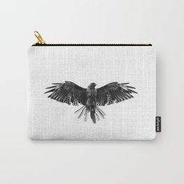 Black Bird White Sky Carry-All Pouch