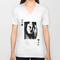 card V-neck T-shirts featuring Card by AMPHOTO ArtPrint