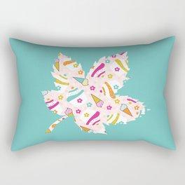 Turquoise Leaf , nursery decor , children gift, birthday gift Rectangular Pillow