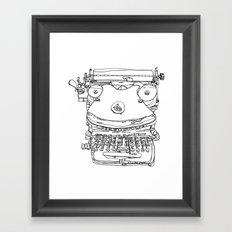 Typewriter Face Framed Art Print