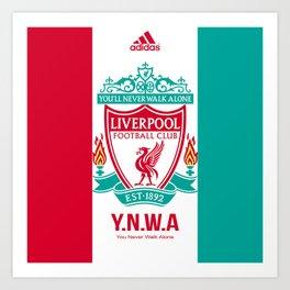 Liverpool Flat Design Art Print