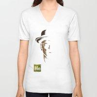 heisenberg V-neck T-shirts featuring Heisenberg by Caroline Fogaça