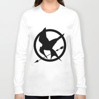 mockingjay Long Sleeve T-shirts featuring Mockingjay by Jessica Wray