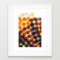 dots Framed Art Prints featuring Dots by Yordanka Poleganova