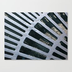 Silver Grate Canvas Print