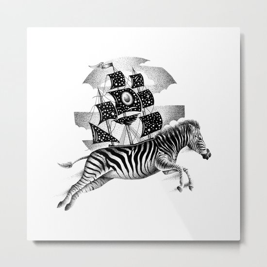 ZEBRA VESSEL Metal Print