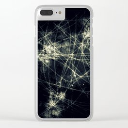Infinity Particles Abstract Clear iPhone Case