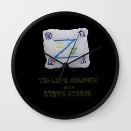zissou flag from lifeaquatic with steve zissou Wall Clock