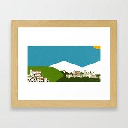 Granada - El Albaycín y La Alhambra Framed Art Print