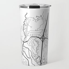 MILL VALLEY Map Print Travel Mug