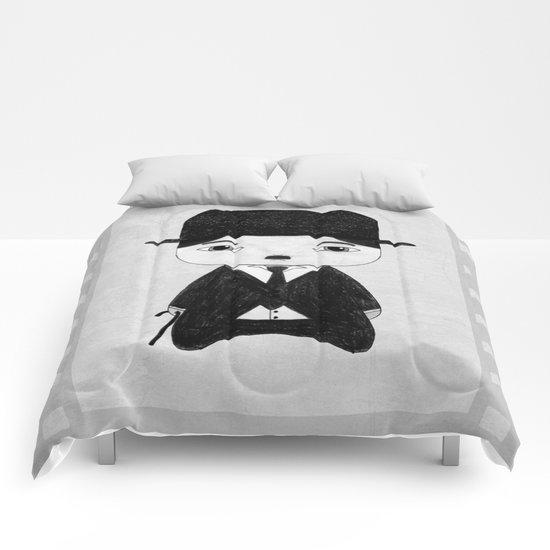 A Boy - Charlie Chaplin (B&W) Comforters