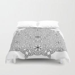 Balanced Flowering Hexad Duvet Cover