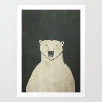 polar bear Art Prints featuring Polar Bear by Matt Edward