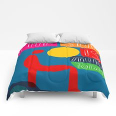 The sun is mine today illustration Comforters