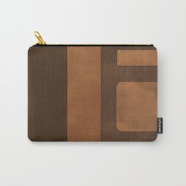 """A series of """"Covers for notebooks"""" . Brown leather. Carry-All Pouch"""