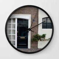 door Wall Clocks featuring Door by Marieken