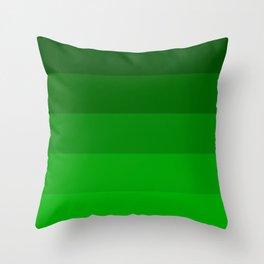 Irish Kelly Green Ombre Stripes Throw Pillow