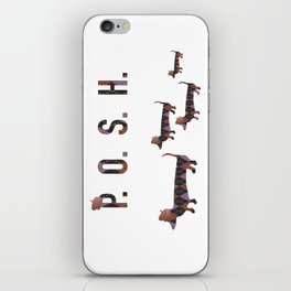 Posh Dachshund Family iPhone Skin