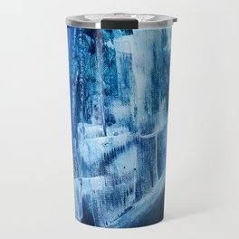 Cerulean [5]: a vibrant blue abstract with texture and layers Travel Mug