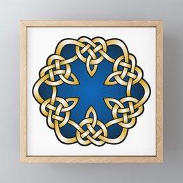 Royal Blue Mandala Knot Framed Mini Art Print