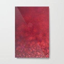 Beautiful Red Glitter Sparkles Metal Print