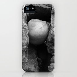 Rock Between Two Hard Places iPhone Case