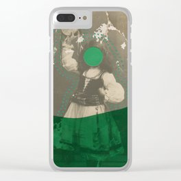 Tambourine Girl Clear iPhone Case