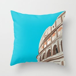 Rome, Italy Colosseum Travel Poster Throw Pillow