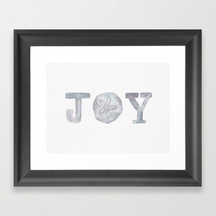 Joy - Christmas Sand Dollar Gerahmter Kunstdruck