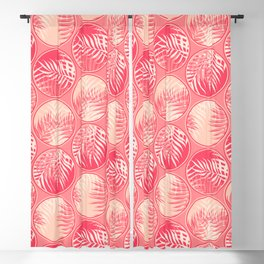 Pink Tropical Coins #society6 #decor #buyart Blackout Curtain