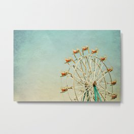 """""""I see nothing in space as promising as the view from a Ferris wheel."""" Metal Print"""