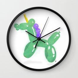 Balloonicorn - Green Wall Clock