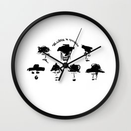 hats and hairstyles Wall Clock