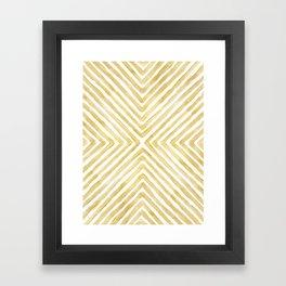 Gilded Bars Framed Art Print