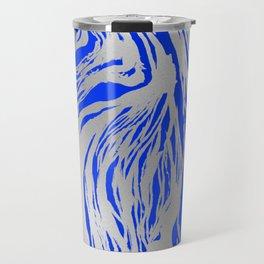 Marbled Blue Travel Mug