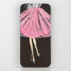 Jolie Pink Fashion Illustration iPhone & iPod Skin