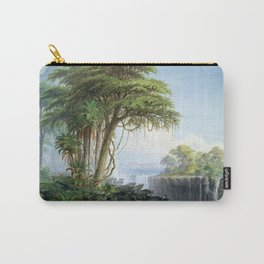 Victoria Falls, Zambia and Zimbabwe with Buffalo by Thomas Baines Carry-All Pouch