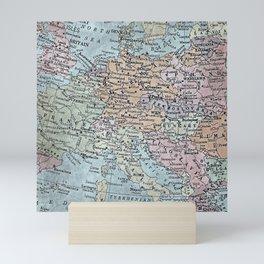 old map of Europe Mini Art Print