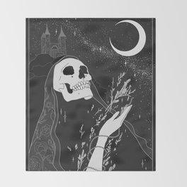 Mugwort Moon Original by Moon Goddess MArket Throw Blanket